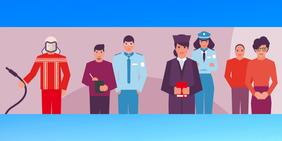 Mitarbeiter*innen aus dem Bereich öffentlicher Dienst