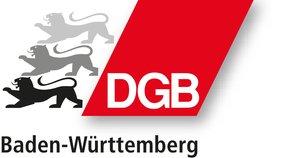 Logo des DGB Baden-Württemberg mit Raute und drei Löwinnen