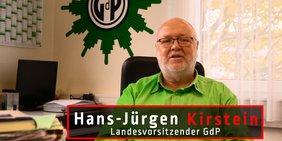 Hans-Jürgen Kirstein, Landesvorsitzender GdP