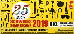 Einladung zum Schwulen Sommercamp 2019 des DGB