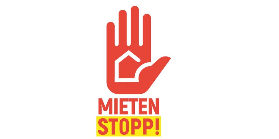 Logo zur Mietenstoppkampagne