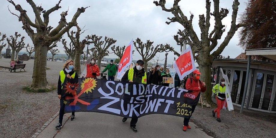 1. Mai-Demozug in Konstanz