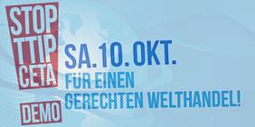 Logo TTIP und CETA stoppen - für einen gerechten Welthandel