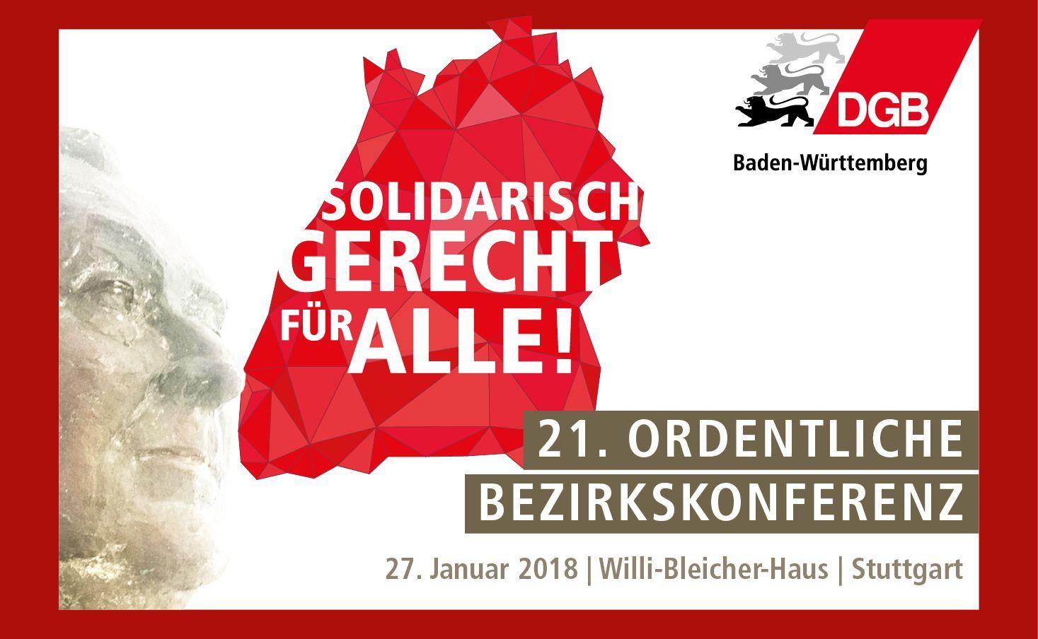 21. ord. DGB-Bezirkskonferenz 27.1.2018