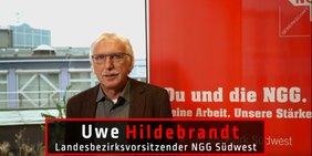 Uwe Hildebrandt, NGG Landesvorsitzender