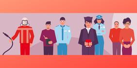 Mehrere Mitarbeiter des öffentlichen Dienstes