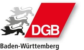 Logo des DGB Baden-Württemberg mit drei Löwinnen