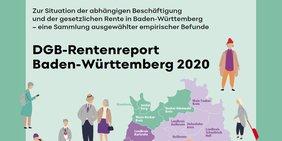 Titelbild der Broschüre DGB-Rentenreport BW 2020