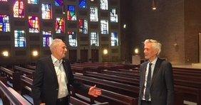 Martin Kunzmann im Gespräch mit Landesbischof Cornelius-Bundschuh