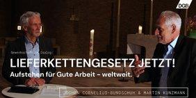 Jochen Cornelius-Bundschuh und Martin Kunzmann im Gespräch