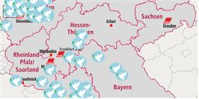 Kartenausschnitt Veranstaltungen Antikriegstag 2017