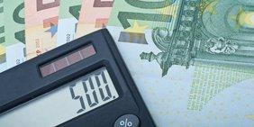 Taschenrechner, Geldscheine
